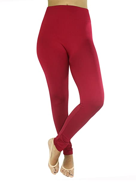 6904191840e25 Image Unavailable. Image not available for. Color: Red Fleece Lined  Seamless Leggings
