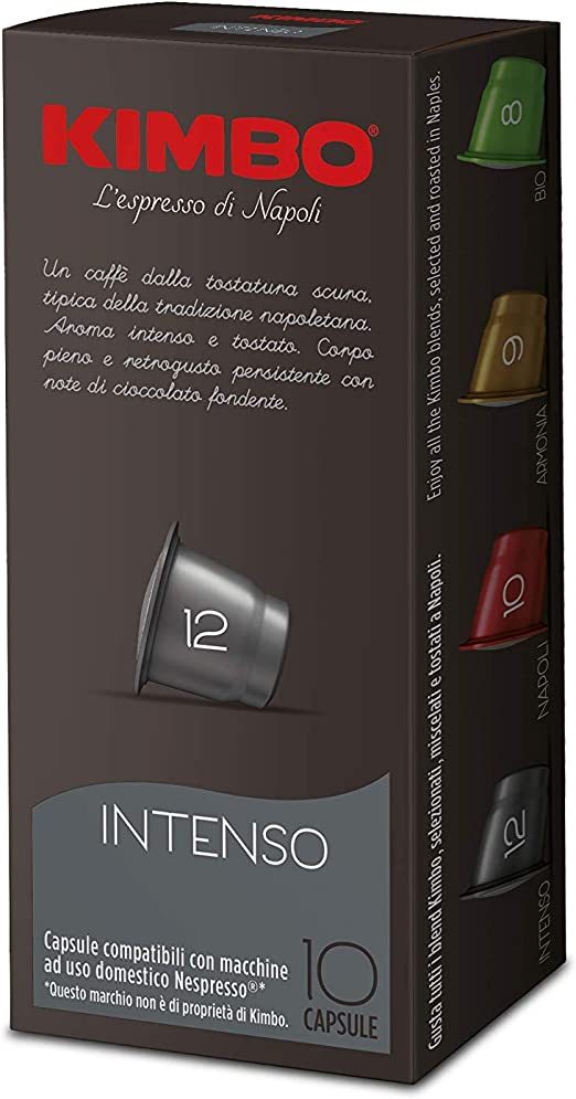 Cápsulas compatibles con cafeteras Nespresso®* (Intenso) 100 caps ...
