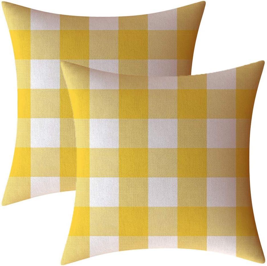 Buffalo Check Plaid Throw Pillow Case Cushion Cover Farmhouse Decoration Linen