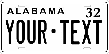 AL PERSONALIZED USA BICYCLE PLATE