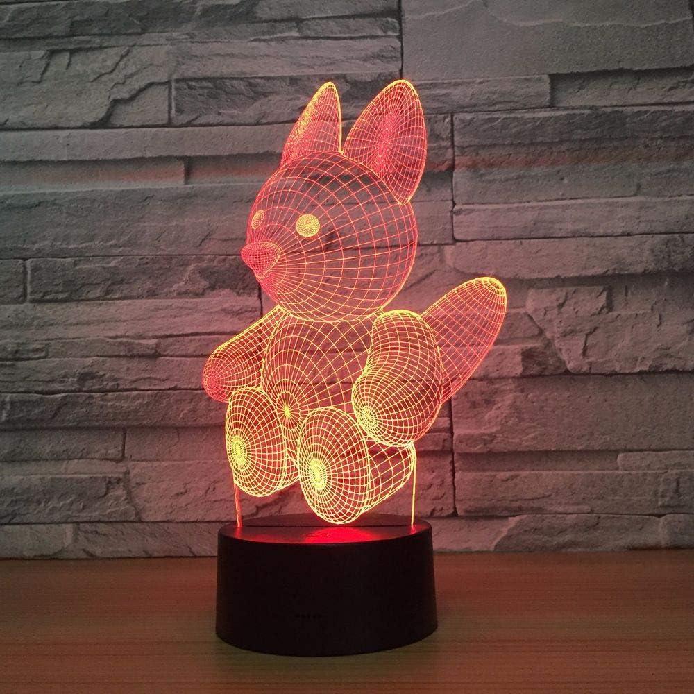 BFMBCHDJ Cute bear 3D Lamp 7 Color Led Night Lamps para niños ...
