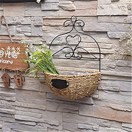 Amazon Com Exdj Handicrafts Wall Decoration Willow Flower Basket