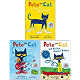The Pete the Cat Series 3 Books Collection Set By Eric Litwin (Pete the Cat I Love My White Shoes, Pete the Cat Rocking in My