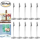 Fenical 10pcs Place Card Holder Memo Holder Clip Photo Holder Table Number Holder