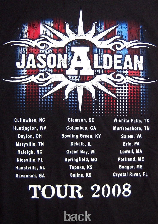 Shirt design columbus ga - Amazon Com Jason Aldean Standing Photo 2008 Tour Crystal River Black T Shirt New Adult Clothing