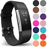 Yousave Accessories Replacement Strap for FitBit Charge 2, Silicone Sport Wristband for the FitBit Charge 2 - Available in 15 Colours