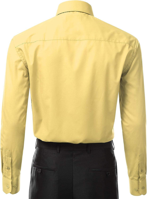 idarbi Hombre Ajuste Regular camisa de puño francés Convertible