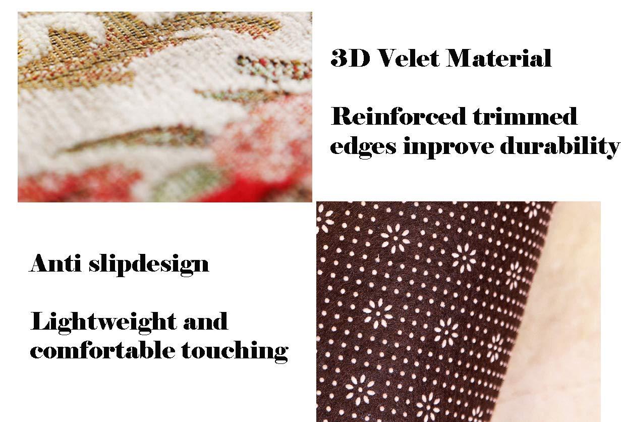 Ommda Teppich Läufer Flur Vintage Antiskid Küche Schlafzimmer Home Home Home Niederflor Flurläufer 8mm Kaffee 100x400cm B07HCNT3MQ Lufer c5a54c
