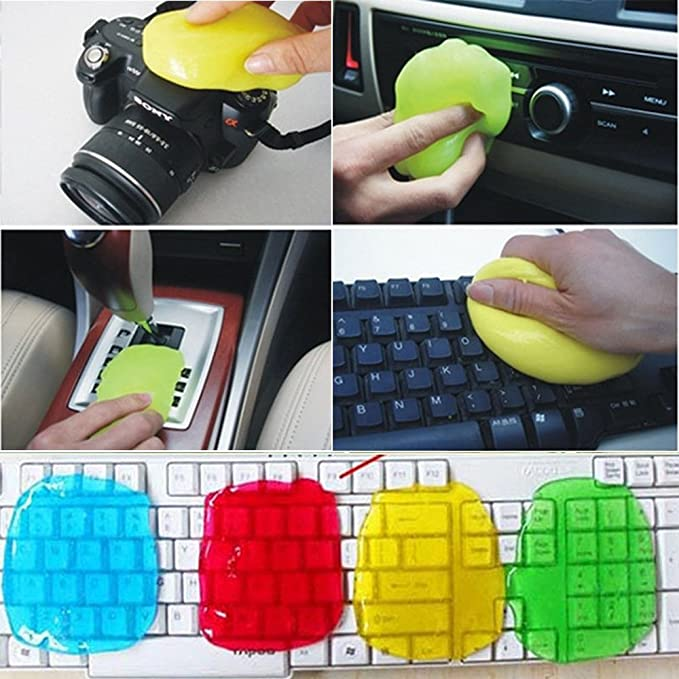 Limpiador de teclado pegajoso para polvo y suciedad, gel de sílice de pegamento, limpieza de teclado para coche, color al azar, color Random: Amazon.es: ...