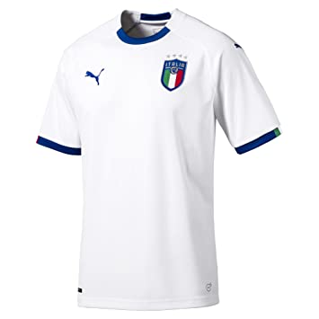 Puma FIGC Italia Away Shirt Replica SS Maillot Homme, White-Team Power Blue, FR : XL (Taille Fabricant : XL)