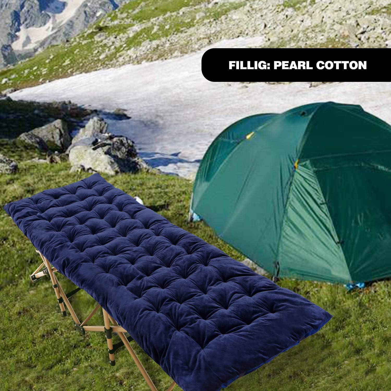 Blue//Gray CAMPMOON Camping Cot Mattress Comfortable