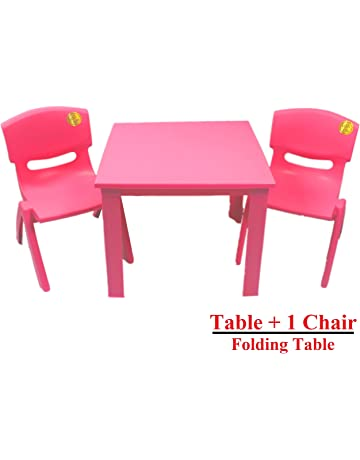 Kids Childrens Plastic Study Garden Or Inside Table And Chairs Set For Boys Girls Red