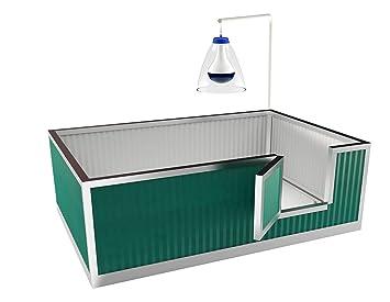 TRDC Caja de Parto aislada para Perros SMERALDO (150x100 cm): Amazon.es: Productos para mascotas