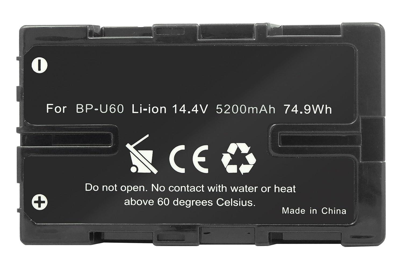Batería BP-U60 (14.4V - 5200 mAh - Li-Ion) para Sony PXW-FS7 / PMW-100, 200, 300, EX1, EX3, X180, X200... v. lista