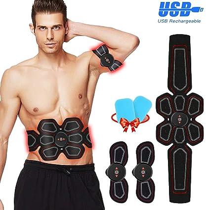 design popolare grande collezione acquistare ZunBo Elettrostimolatore Muscolare EMS Stimolatore Muscolare USB  Ricaricabile,Professionale Cintura per Addominali con stimolazione  Muscolare Uomo ...