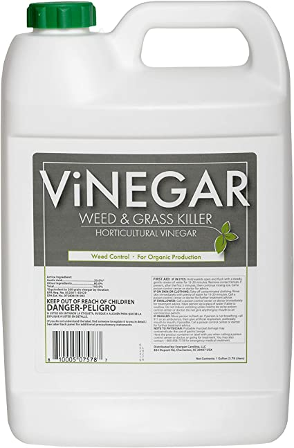 Amazon Com Energen Carolina Llc 578 Vinegar Weed Grass Killer Approved For Organic Production Pet Safe Glyphosate Free Herbicide Gallon 1 Yellow Garden Outdoor