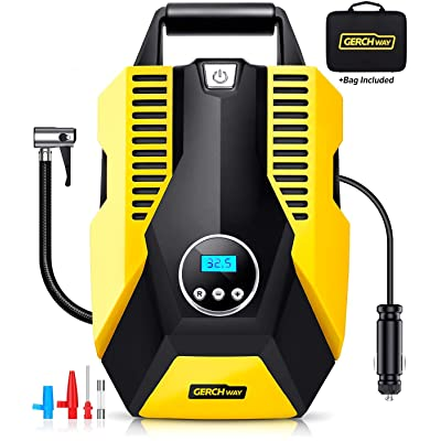 Tire Inflator Portable Air Compressor for Car - Compact Digital Air Pump for Car Tires with Long Cord, Auto Shut Off Feature: Home Improvement