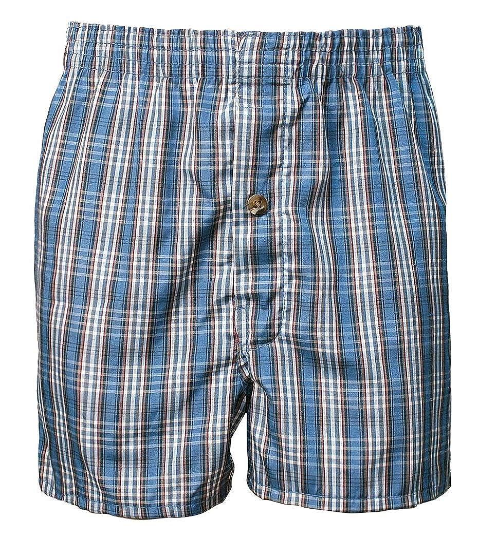 ToBeInStyle Boys 6 Pack Cotton-Blend Tartan Patterned Boxer Shorts