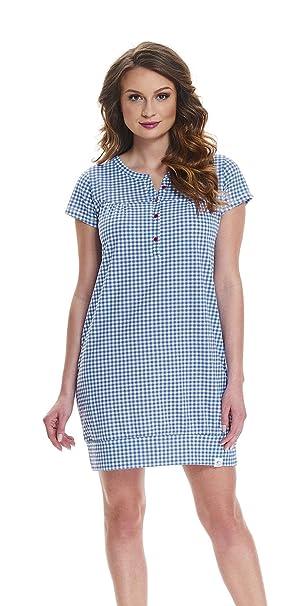 dn-nightwear - Camisón - para mujer azul XL
