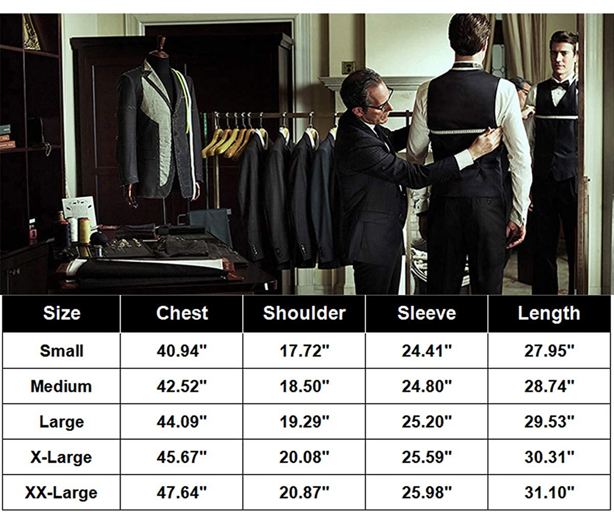 WEEN CHARM Mens Slim Fit One Button Casual Blazer Jacket