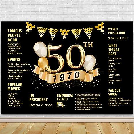 Telón de Fondo para fotografía de 50 cumpleaños, decoración ...