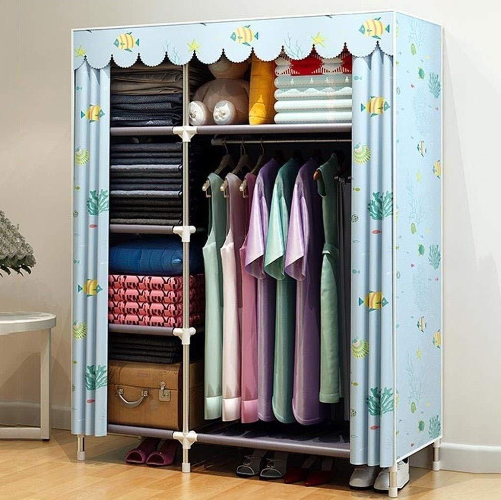 Barir Simple Wardrobe Fabric Cloth Wardrobe Double Simple Modern Kitchen (Size:12545168cm (Size : A) by Barir