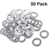 50 Pieces Aluminum Engine Oil Drain Plug Washer Gaskets Compatible with Honda Part 94109-14000