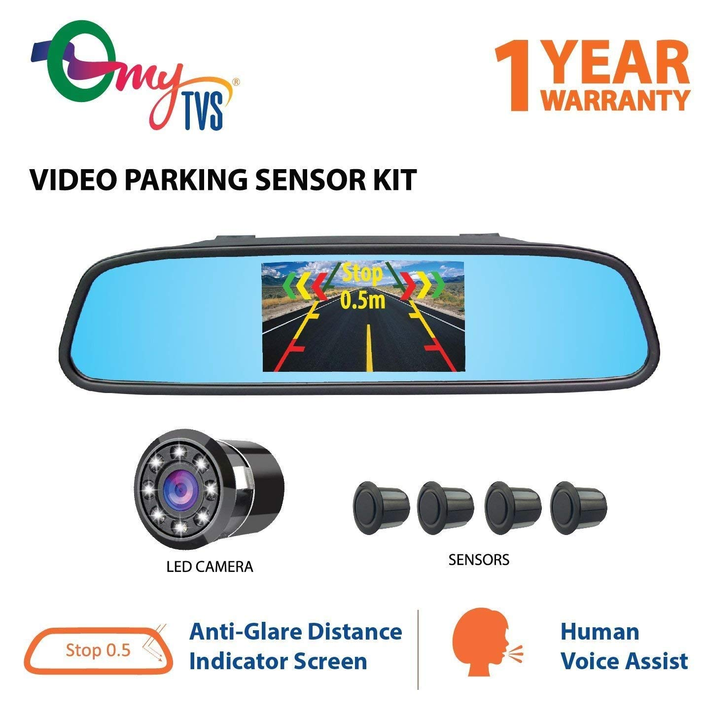 011c78d86da myTVS TVS-52 Video Reverse Car Parking Screen