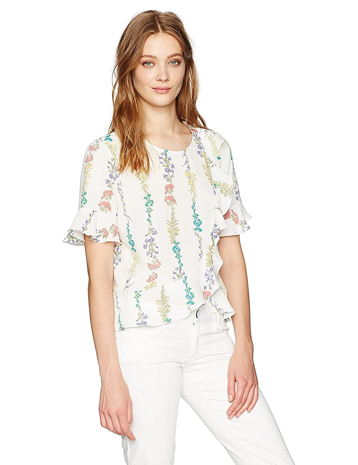 BCBGMAXAZRIA Women's Kenzie Top Off White Combo M [並行輸入品] B075CJSTPG