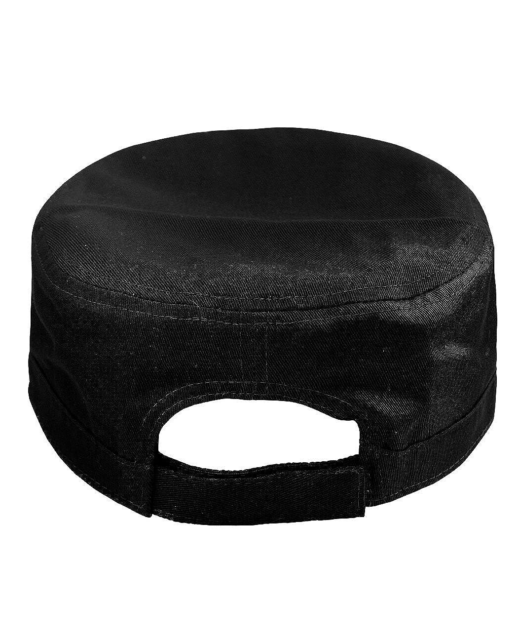 NYFASHION101 Fashionable Solid Color Unisex Adjustable Velcro Strap Cadet Cap