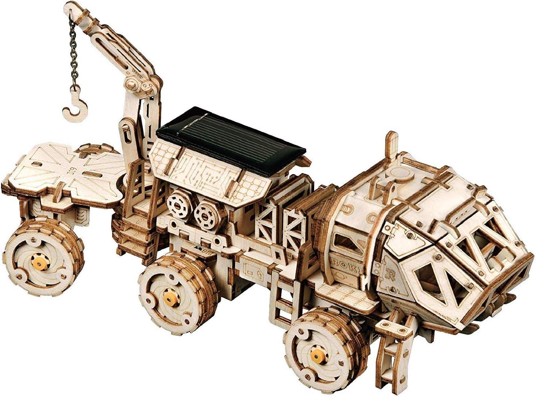 HEMFV Asamblea 3D rompecabezas de madera de los modelos mecánicos, energía solar Coches-movible Desarrollado Asamblea bricolaje juguete Mejor regalos de cumpleaños for Ingeniero marido y el novio y Ni