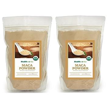 Healthworks Maca Powder Raw Organic, 4lb (2 2lb Packs)