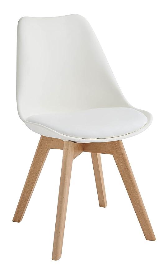 Design Twist Tommy Set di 4 Sedie, Legno, Bianco, 52 x 48.5 x 82 cm ...
