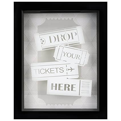 Amazon.com - Americanflat 7x9 Inch Drop Your Ticket Here Shadow Box ...