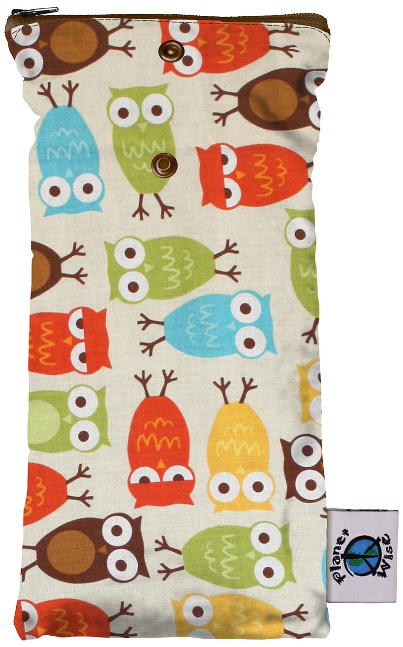 Planet Wise Wipe Pouch, Owl WipePouchOwl