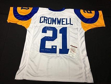 Nolan Cromwell Signed Rams Football Jersey