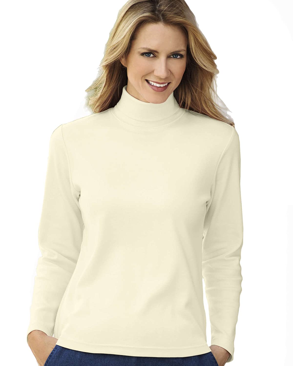 UltraSofts Turtleneck at Amazon Women's Clothing store: Blouses