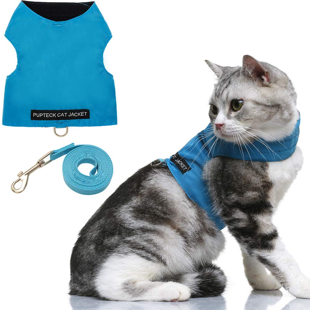 Escape Proof Cat Harness with Leash Set – Adjustable Fleece Walking Jacket – Soft and Light Weight for Kittens, Puppies