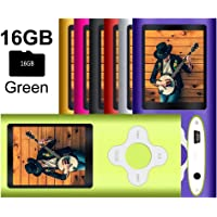 G.G.Martinsen White on Green Versatile MP3/MP4 Player with a Micro SD Card, Support Photo Viewer, Mini USB Port 1.8 LCD, Digital MP3 Player, MP4 Player, Video/Media/Music Player