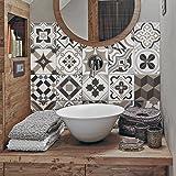 (24 PIECES) carrelage adhésif 20x20 cm - PS00089 - Braga - Adhésive décorative à carreaux pour salle de bains et cuisine Stickers carrelage - collage des tuiles adhésives