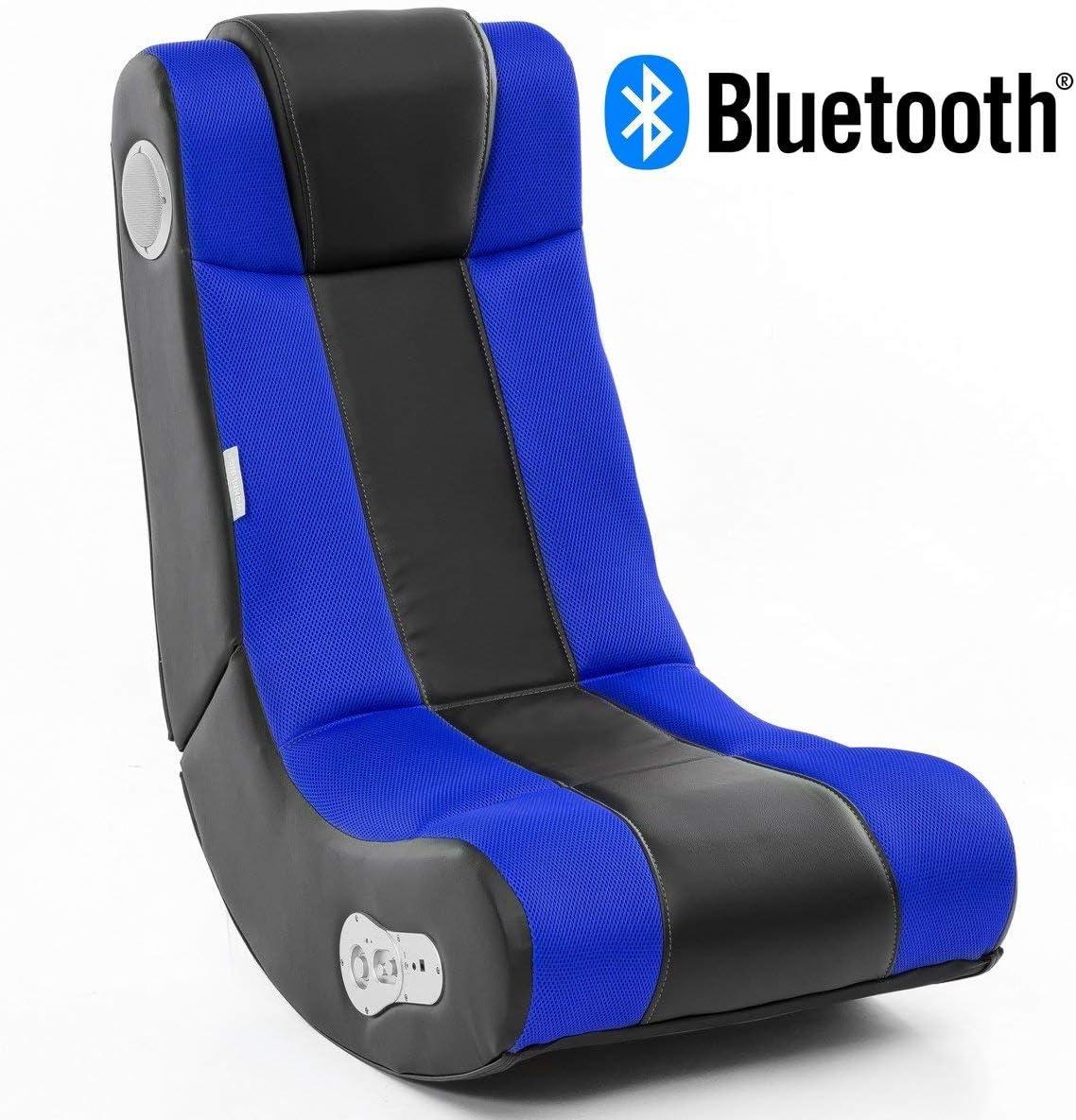 24Designs Soundchair Max en Noir Bleu avec Bluetooth, Haut