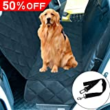 """THSITY Dog Car Back Seat Cover, Pet Car Bench Seat Protector for Trucks & SUVs, Nonslip & Waterproof Hammock Convertible, Easy Clean, 54"""" * 58"""" (Black)"""