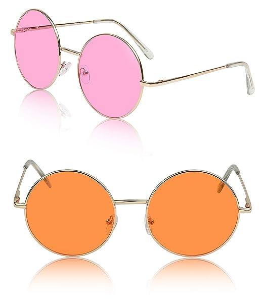Amazon.com: Sunny Pro - Gafas de sol redondas (protección ...