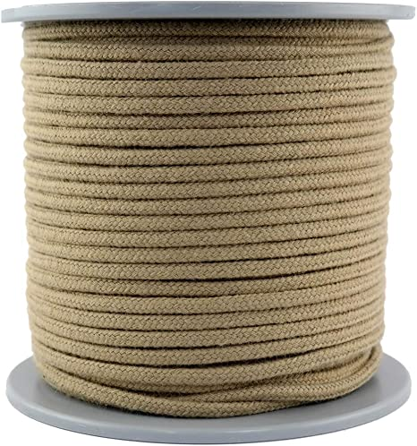 Polyhemp Rope Poly Hemp Rope Diameter 6 Mm 100 M On Disc Spool 100 Polypropylene Rope 16 Strands Braided Colour Linen Amazon De Sport Freizeit