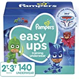 Pampers Easy Ups Pull On Disposable Potty Training Underwear for Boys and Girls, Size 4, (2T-3T), 140 Count (Packaging May Vary)