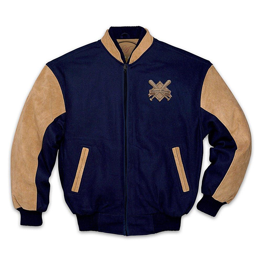 The Bradford Exchange Baseball Fan Vintage Varsity Men's Jacket: For The Love Of The Game X-Large Blue