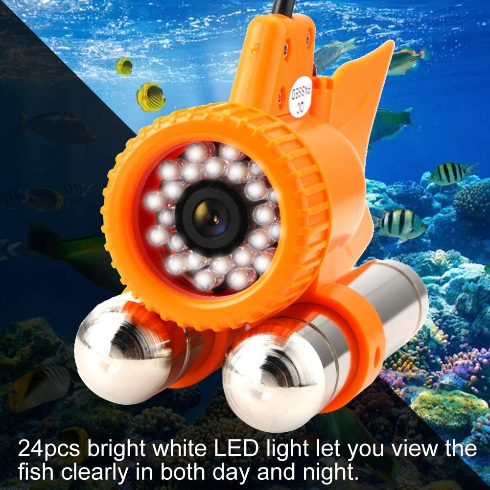 Underwater Camera 50M HD Underwater Camera with Fill Light Led Night Vision and Super Waterproof for The Monitoring of Aquaculture Underwater Detection