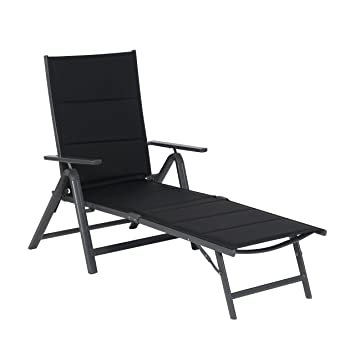 Noir Pliant Longe Bain De Inclinable Multiposition Soleil Relax Chaise Design Jardin Grenada Fauteuil Yfg76by