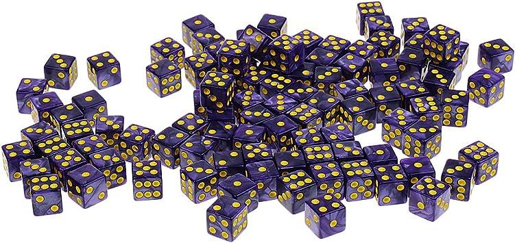100PCS dados de punto de 6 lados 14 mm para juegos de mesa juegos de mesa