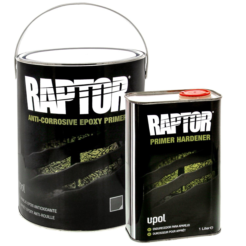 Raptor 4:1 Anti-Corrosive Epoxy Primer Kit UP4830 Gray 5L by Raptor